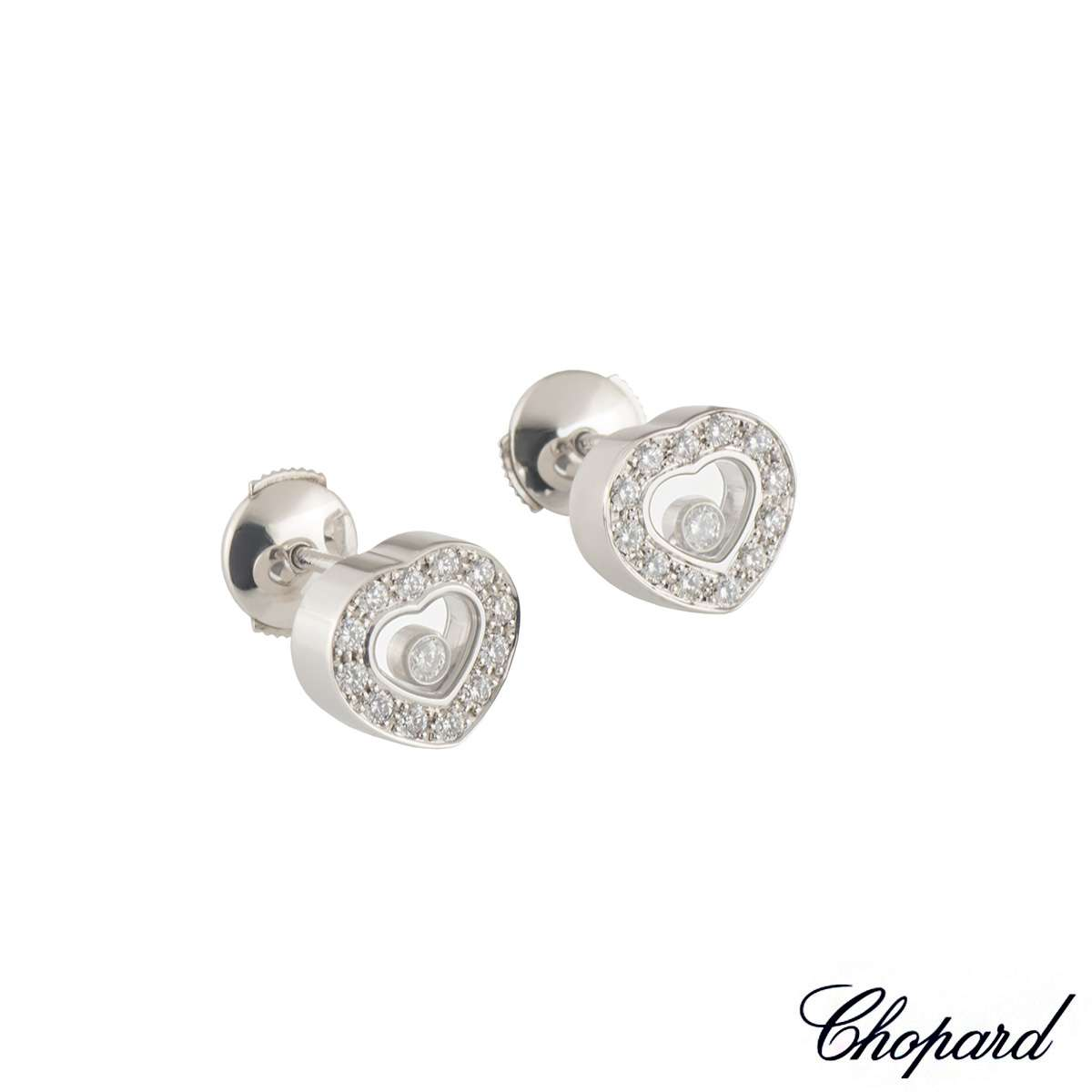 Chopard White Gold Happy Diamonds Earrings 83/2936-20